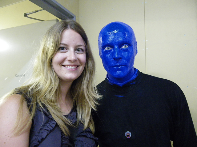 Backstage With The Blue Men In Tokyo Mori Living Mori